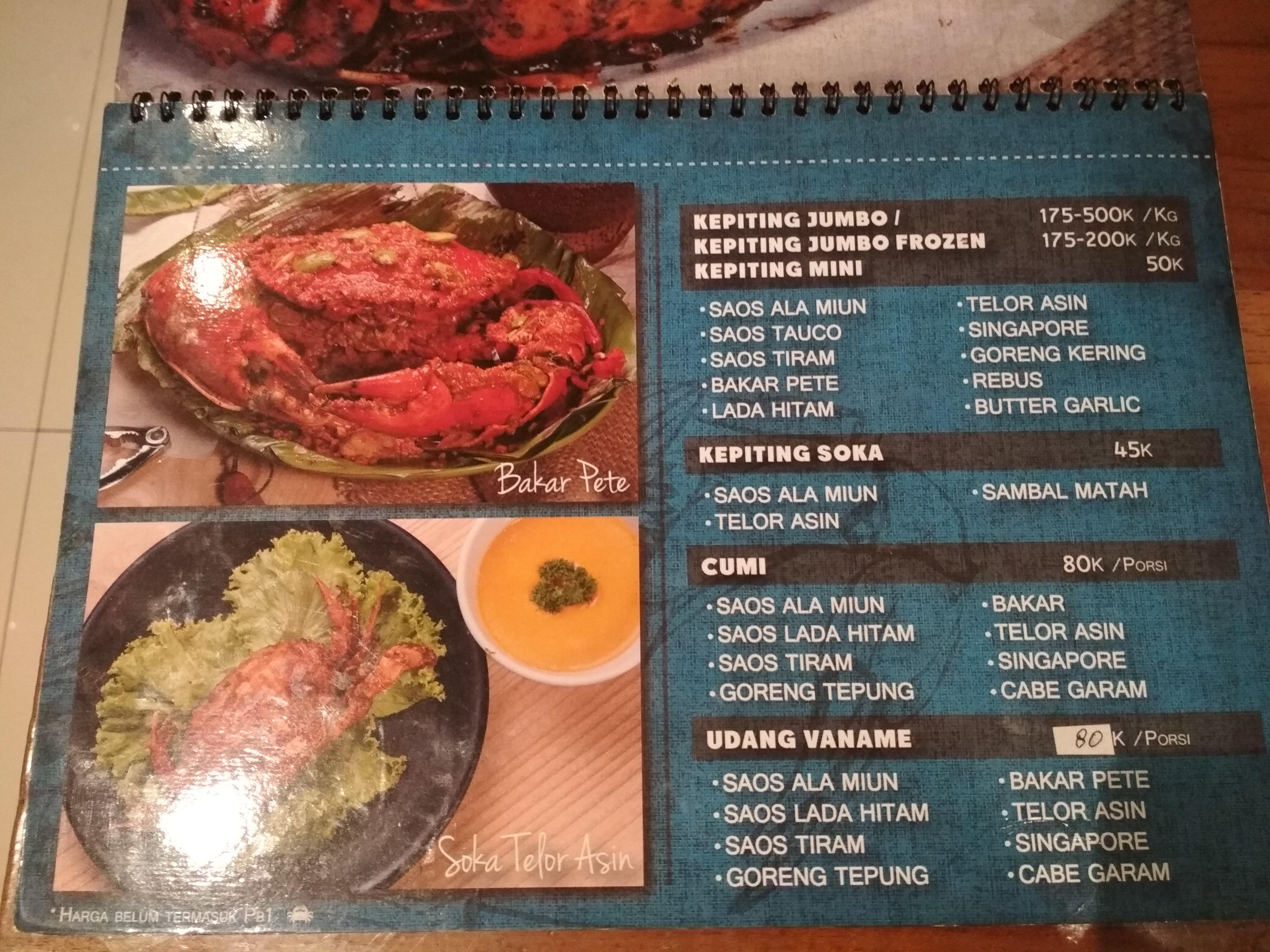 Kampung Miun Seafood Pasir Kaliki Tempat Com